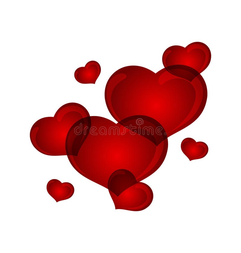Download Set Valentine Hearts Isolated Stock Vector - Image: 22873330