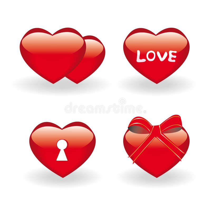 Set of valentine icons royalty free illustration