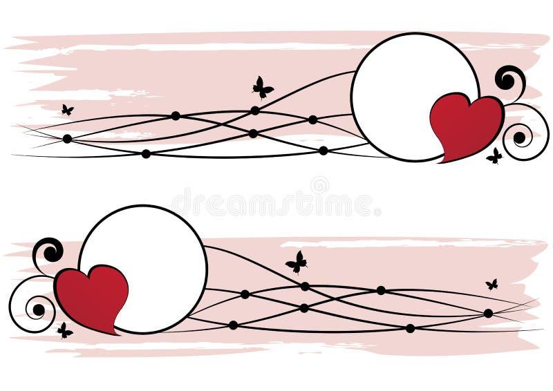 Set valentine ramy ilustracja wektor