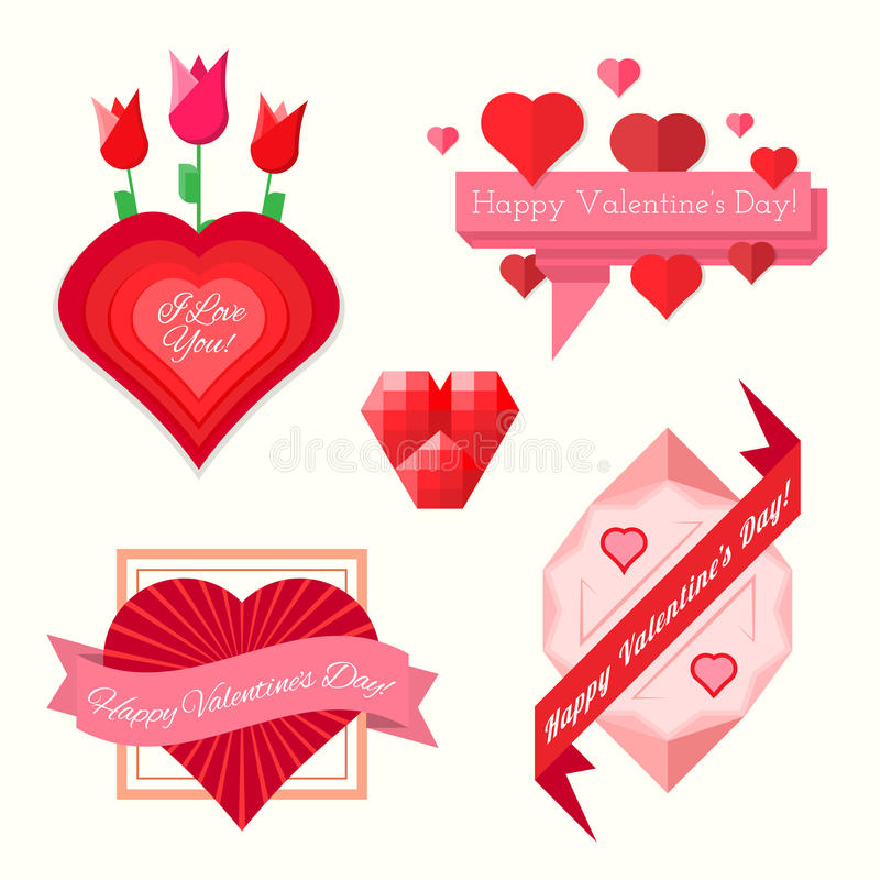 Download Set Of Valentines Day Banners Stock Vector - Image: 37466200