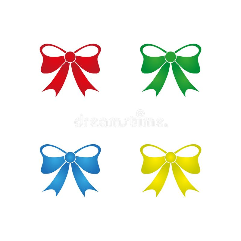 Set of various abstract bows and ribbons. Web icon. Celebrations concept royalty free illustration