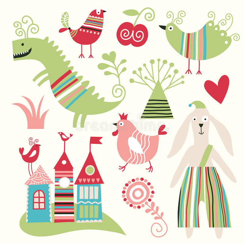 Download Set of various animals stock vector. Illustration of isolated - 18283603