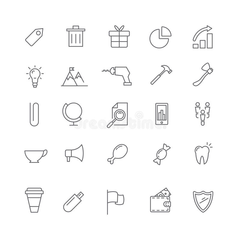 Set of various business icons for web. Set of different icons for the Internet. Subject of business stock illustration