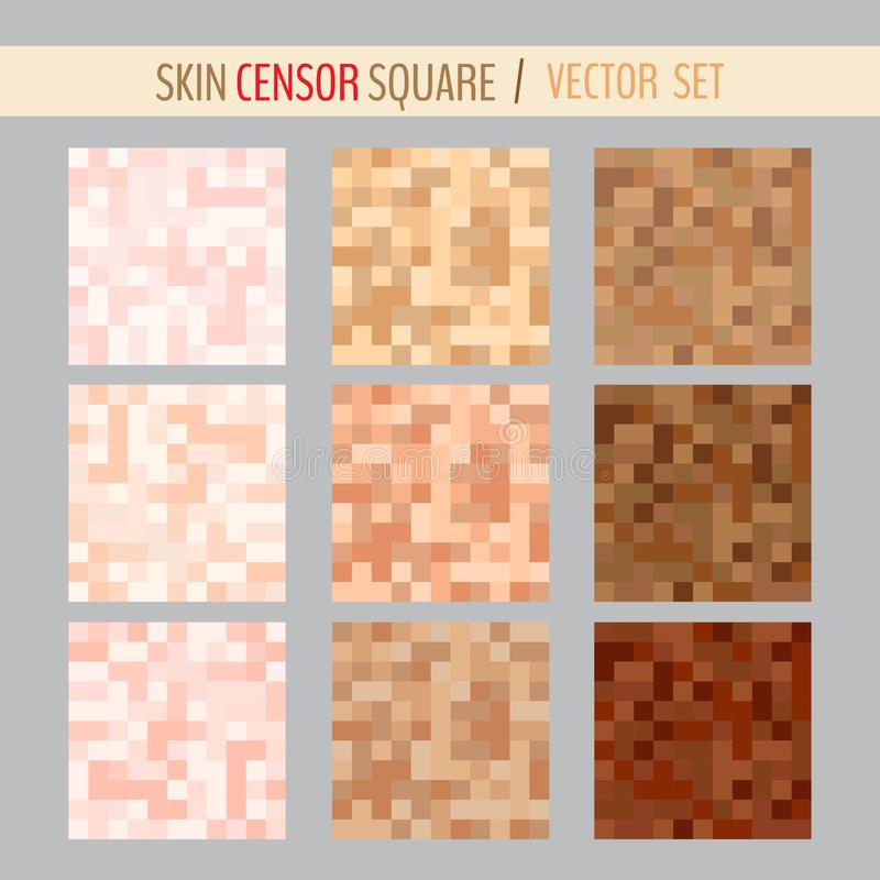 Censorship pixel squares. Set of various censorship pixel squares. Vector illustration for your graphic design vector illustration