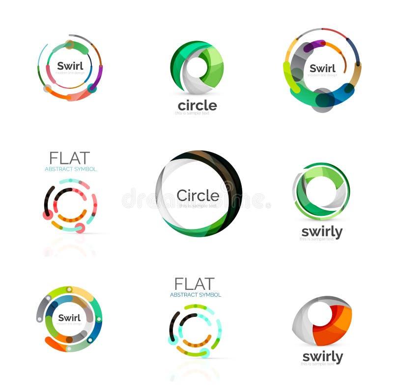 Set of various circle logos vector illustration