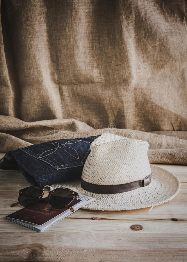 Set of various clothes and accessories for men stock photo