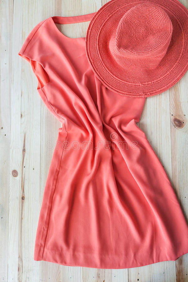 Set of various clothes and accessories for women royalty free stock photos