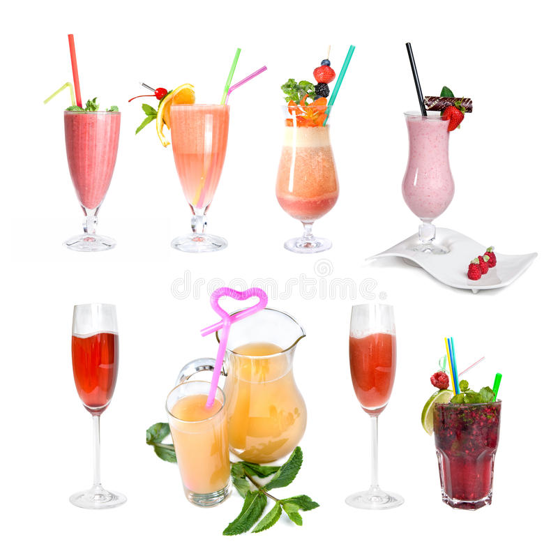 Download Set Of Various Cold Cocktails Stock Photo - Image: 13766536