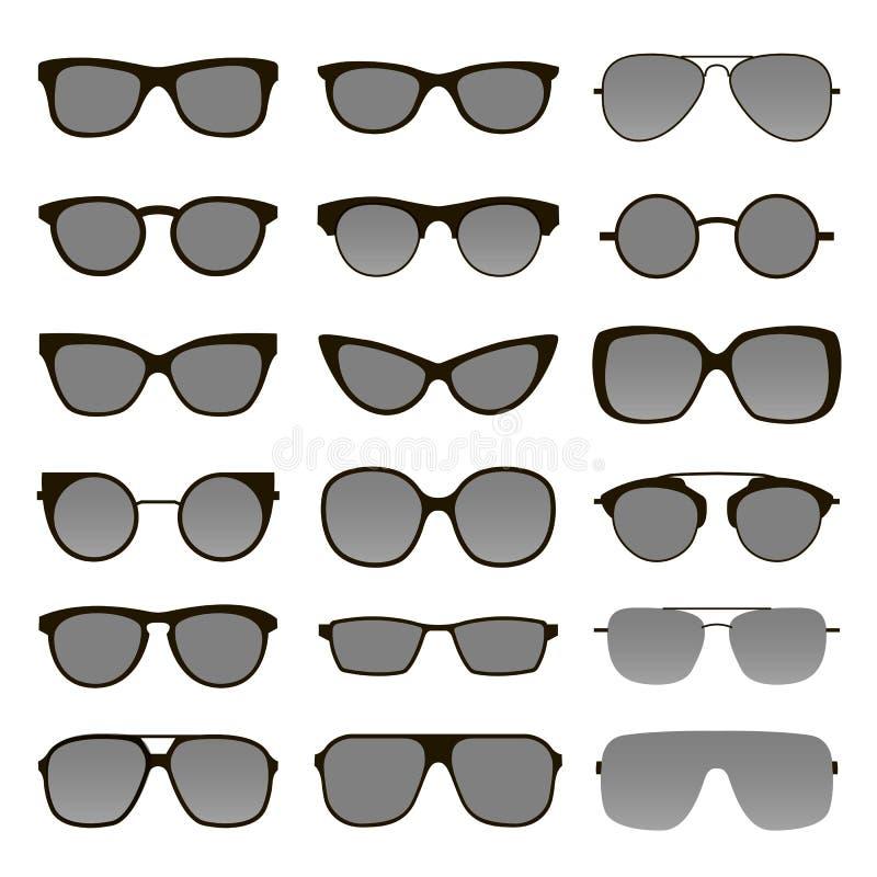 Set of various custom glasses stock photos