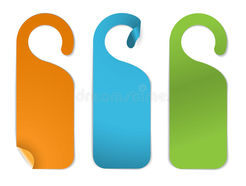 Set of various empty paper tags stock illustration