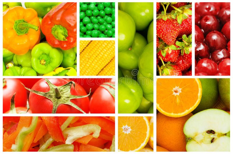 Download Set Of Various Fruits And Vegetables Stock Photo - Image of seasonal, apple: 23260246