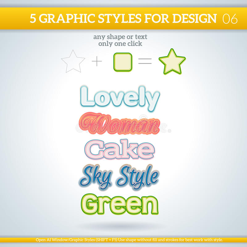 Set of Various Graphic Styles for Design. Set of Various Graphic Styles for Design and other stock illustration