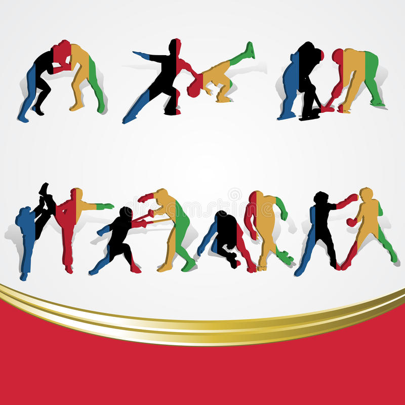 Set Of Various Icon Sport Or Symbol Sports Colorfu Royalty Free Stock Image
