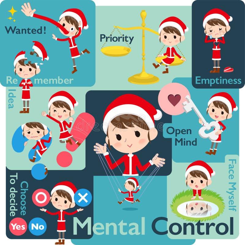 Santa Claus Costume mom_Mental & volition royalty free illustration