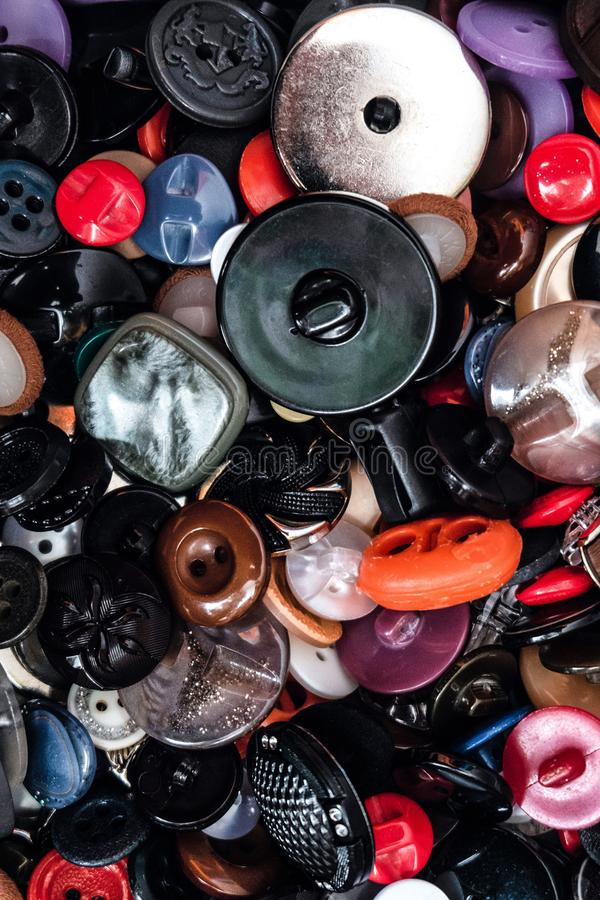 Set of various spare buttons for sewing royalty free stock image
