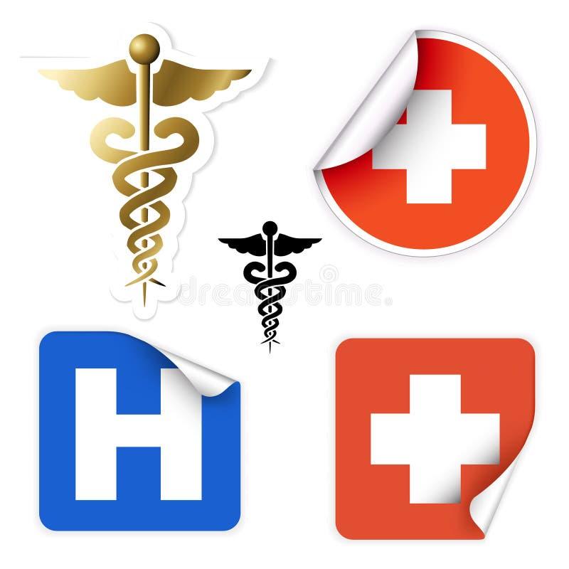 Set of various vector medical symbols royalty free illustration