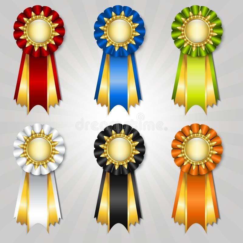 Set of vecor prize ribbons royalty free illustration