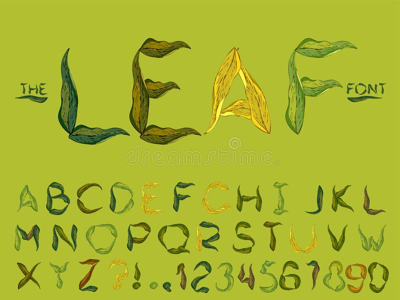 Set of vector abstract font and alphabet stock illustration