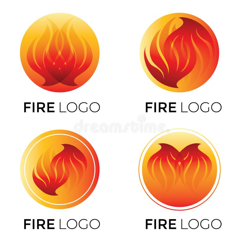Abstract logotypes - fire royalty free illustration