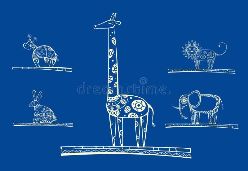 Download Set of vector animals stock vector. Illustration of celebration - 24524671