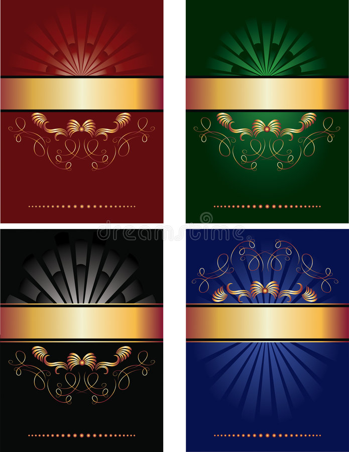 Set of vector background royalty free illustration