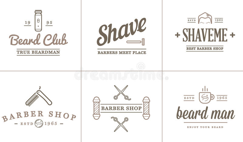 Set of Vector Barber Shop Elements. And Shave Shop Icons Illustration can be used as Logo or Icon in premium quality royalty free illustration