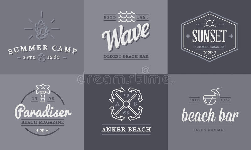 Set of Vector Beach Sea Bar Elements and Summer can be used as Logo. Or Icon in premium quality vector illustration