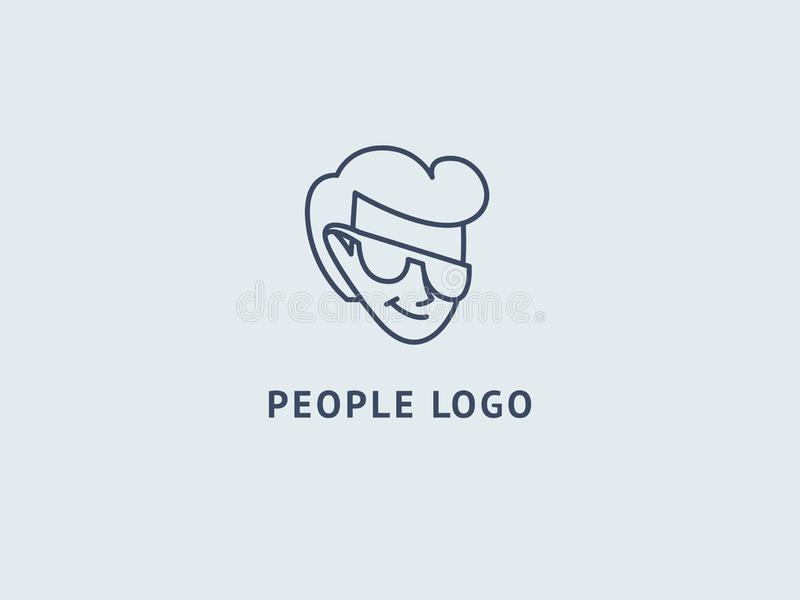 Set of vector bearded men faces, hipsters with different haircuts, mustaches, beards, sunglasses. Abstract vetor logo vector design. Sign for business, internet vector illustration