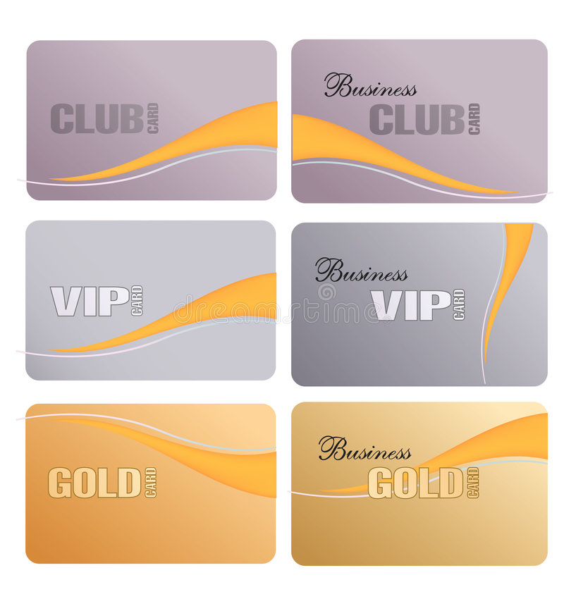 Download Set Of Vector Business Cards Stock Vector - Illustration: 7577349