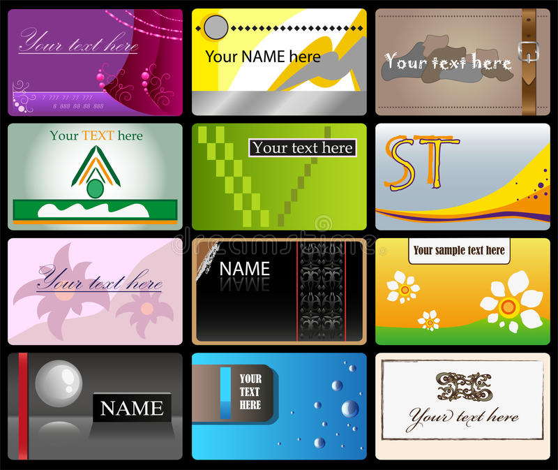 Set of vector business cards. For advertizing of your firm vector illustration