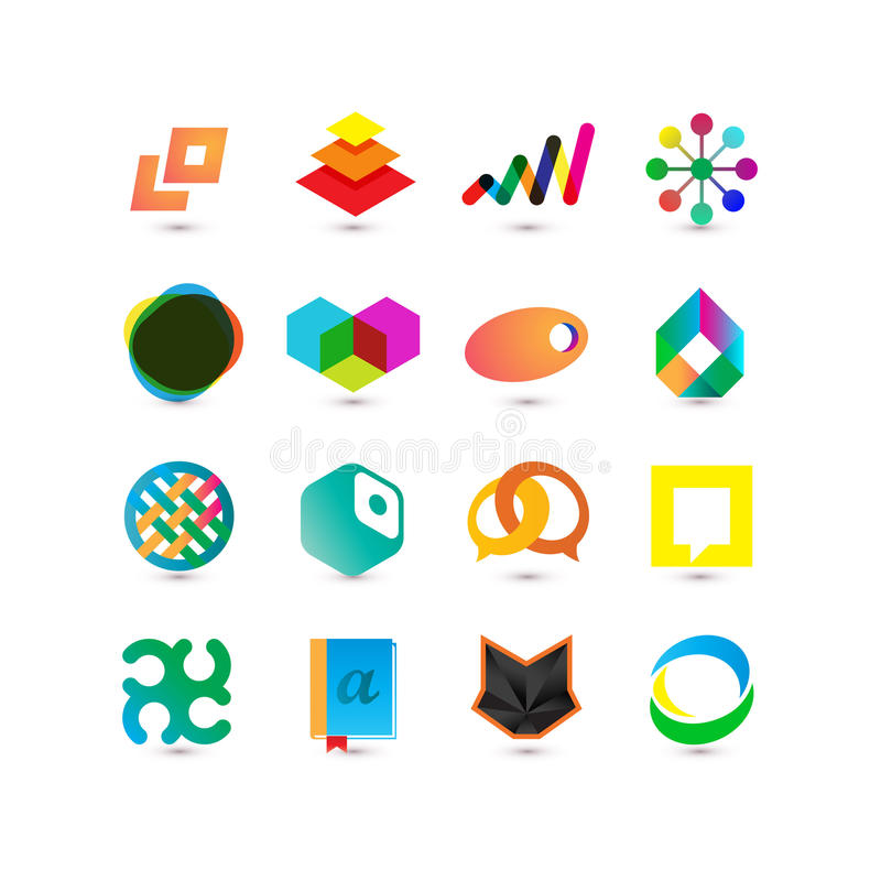 Set of vector business icons. For web and appliactions stock illustration