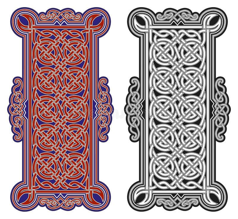 Set of vector celtic design elements stock illustration