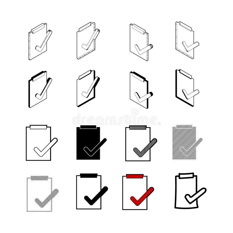 Set of vector Collection modern vector. Correct Check icon multi vector illustration