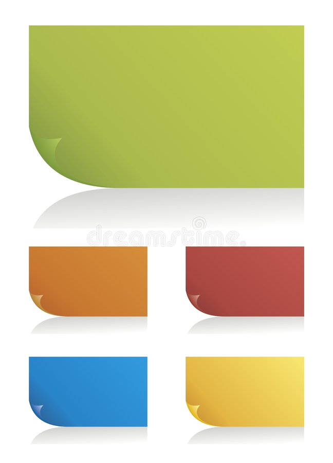 Set of vector color page corners. Set of design elements can used for tags, labels, stickers, badges in your work stock illustration