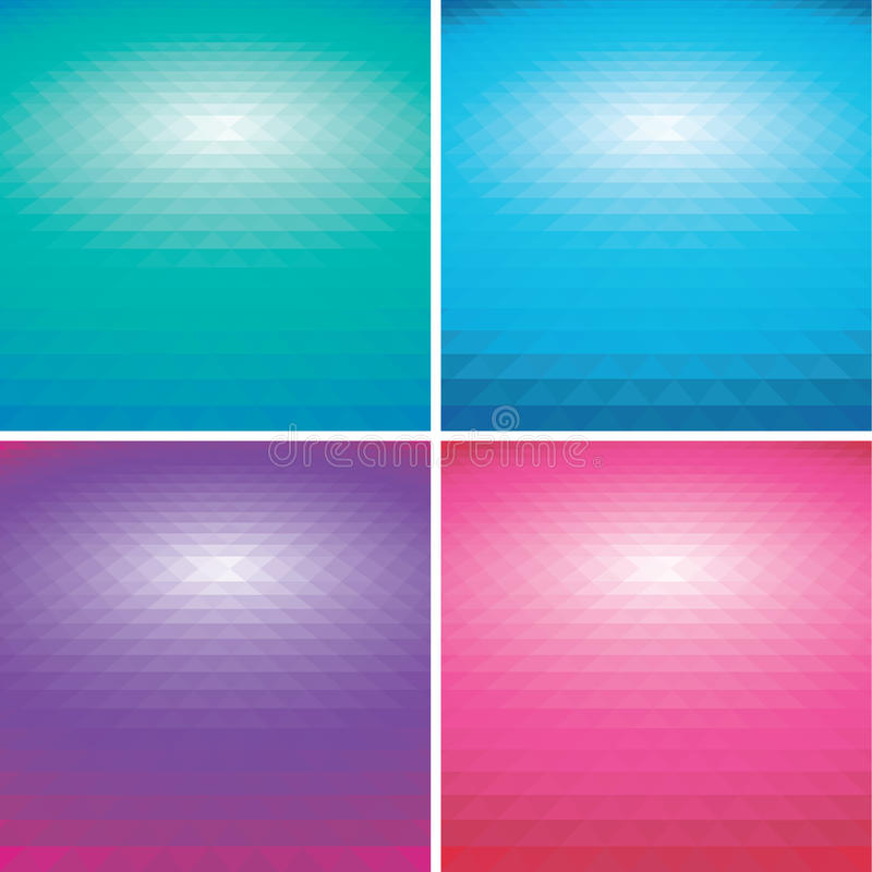 Set Of Vector Colorful Abstract Triangle Backgroun Stock Image