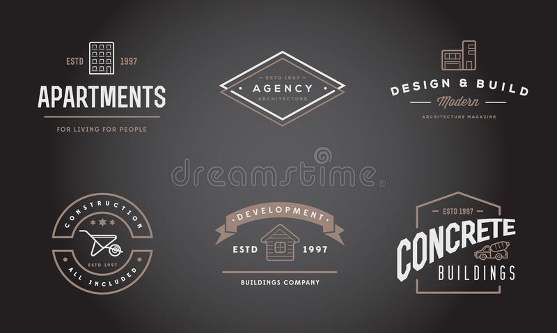 Set of Vector Construction Building Icons Home and Repair can be used as Logo. Or Icon in premium quality vector illustration