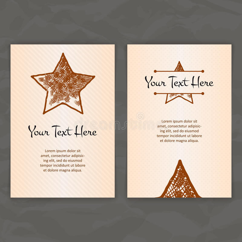 Set of vector design templates business card with star element download set of vector design templates business card with star element hipster style reheart Choice Image