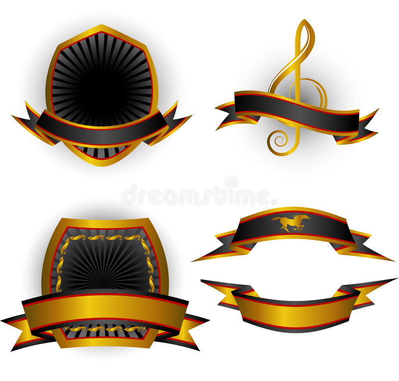 Set of vector emblems and banners vector illustration