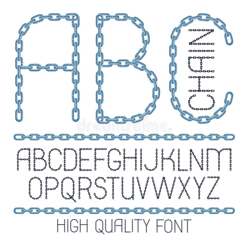Font Made With Leaves, Floral Alphabet Letters Set Stock