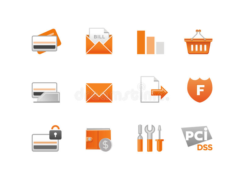 Set of Vector Finance Icons vector illustration