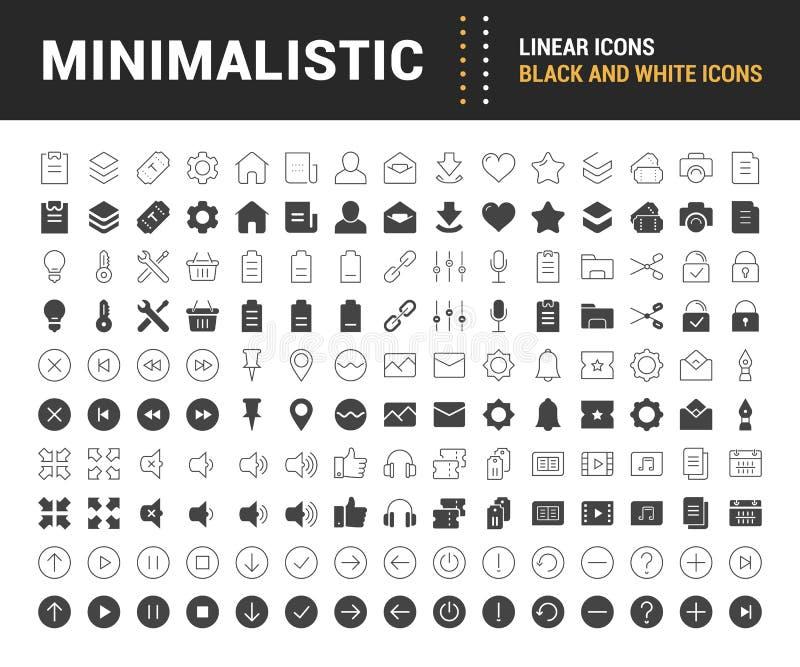 Set Vector Flat Line Icons Minimalistic vector illustration