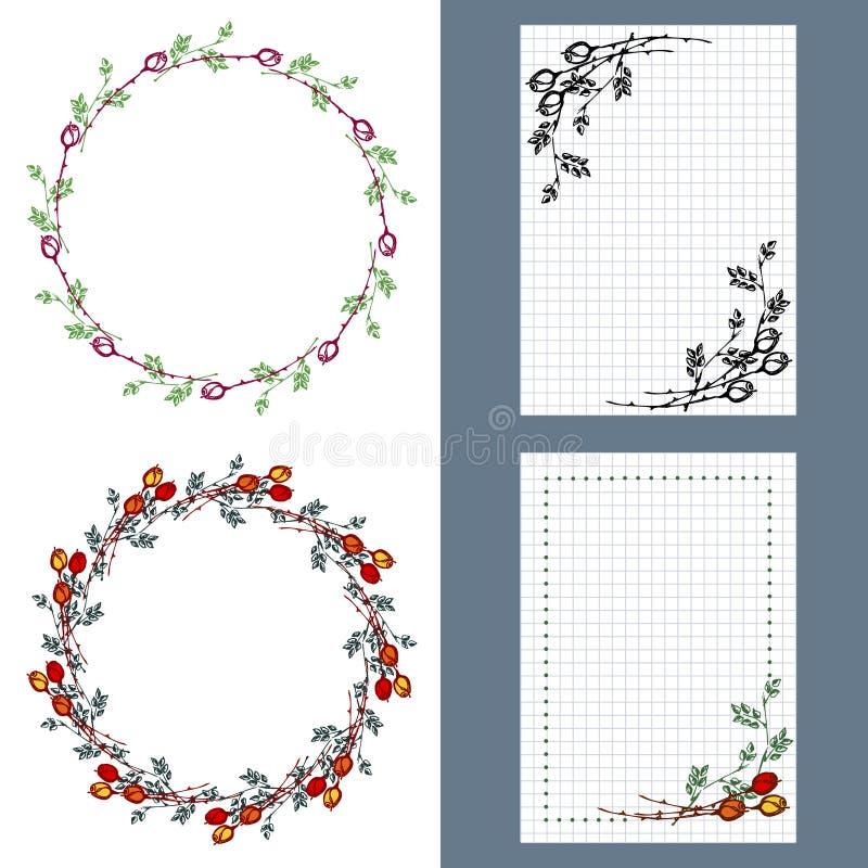 Set of vector floral frame card border greeting cards stock download set of vector floral frame card border greeting cards stock vector m4hsunfo Images