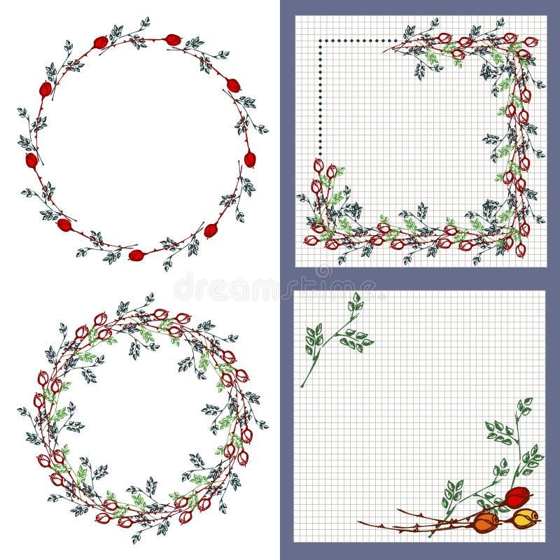 Set of vector floral frame card border greeting cards stock download set of vector floral frame card border greeting cards stock vector m4hsunfo