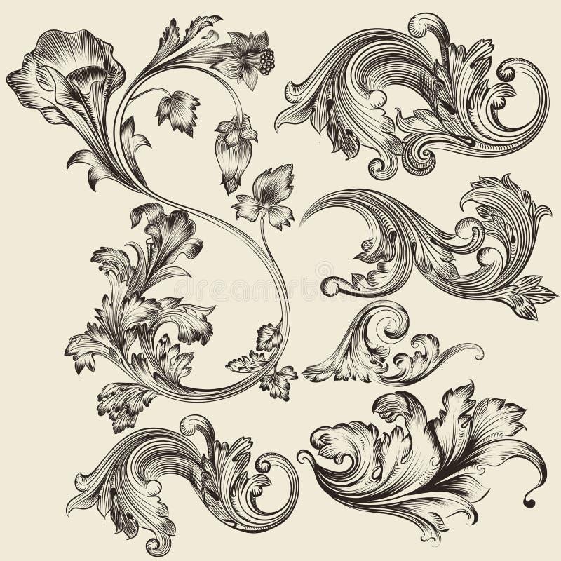 Set of vector flourishes royalty free illustration