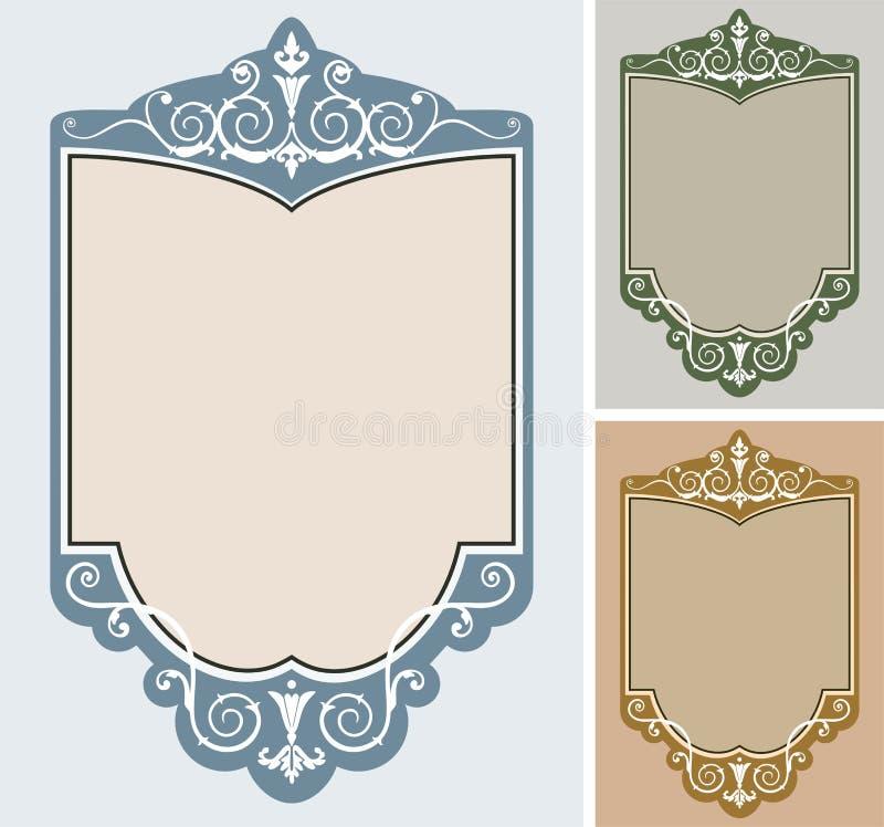 Download Set of vector frames stock vector. Image of variations - 12681107