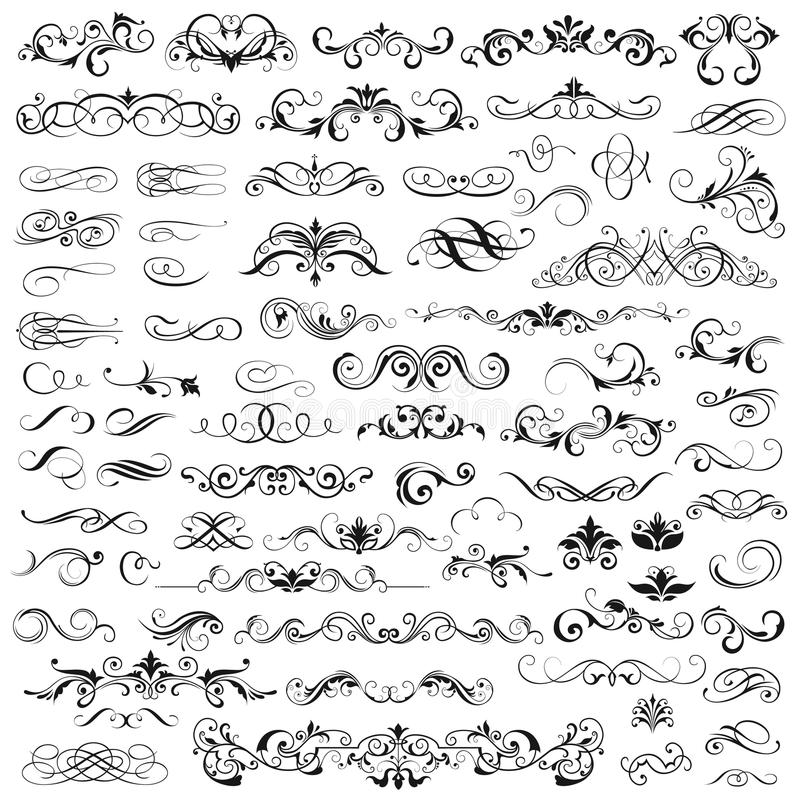 Set of vector graphic elements royalty free stock images