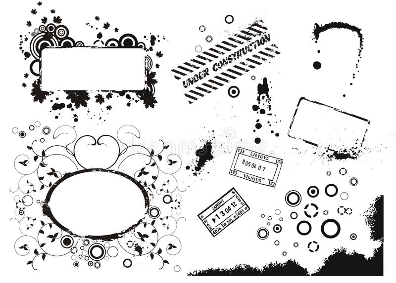 Download Set Of Vector Grunge Elements Stock Vector - Image: 11918351