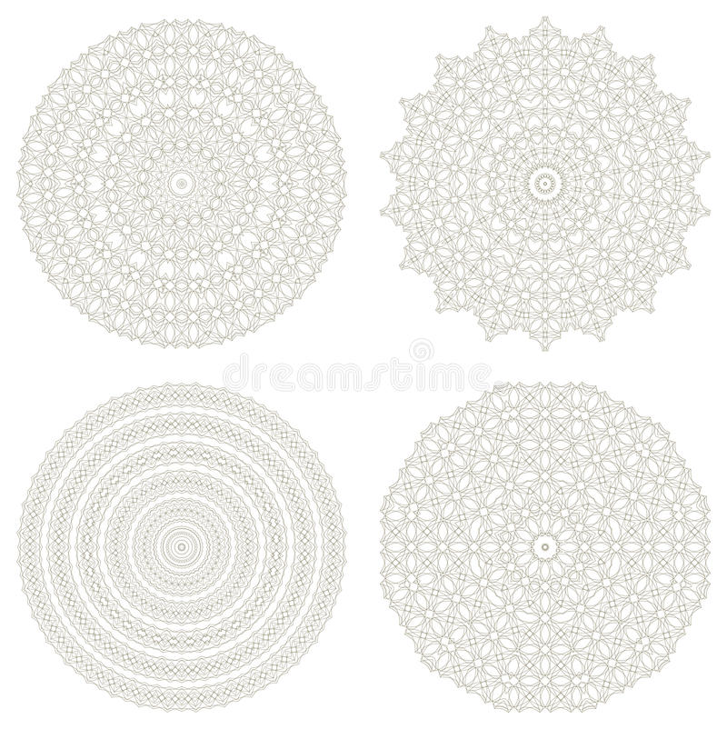 Download Set Of Vector Guilloche Rosettes Stock Vector - Image: 24863622