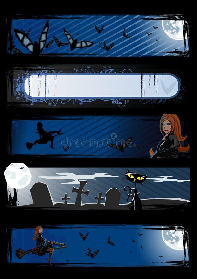 Download Set Of Vector Halloween Banners Stock Vector - Illustration of horror, graveyard: 6488832