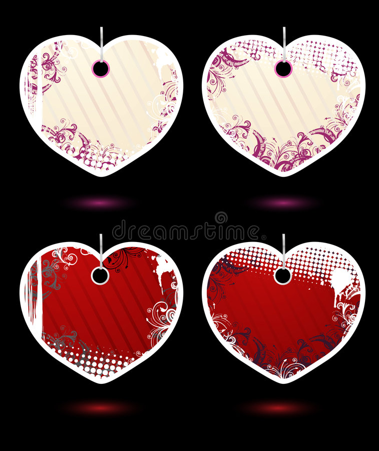 Download Set Of Vector Heart-shaped Labels Stock Vector - Image: 7995799